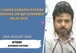 AAP Leader Durgesh Pathak addressing on Bjp Governed Delhi MCD