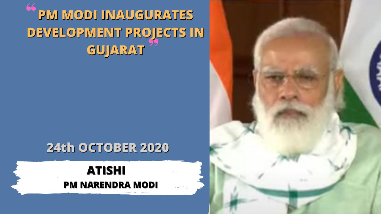 PM Modi inaugurates development projects in Gujarat