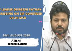 AAP Leader Durgesh Pathak addressing on Bjp Governed Delhi MCD