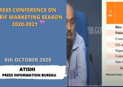 Press Conference on Kharif Marketing Season 2020-21