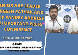 Senior AAP Leader Durgesh Pathak and Dilip Pandey address an Important Press Conference