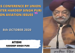 Press Conference by Union Minister Hardeep Singh Puri on Aviation Related Issues