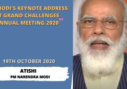 PM Modi's keynote address at Grand Challenges Annual Meeting 2020