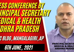 PRINCIPAL SECRETARY MEDICAL AND HEALTH ANDHRA BRIEFING NEWSMEN ON UPDATES OF COVID 19